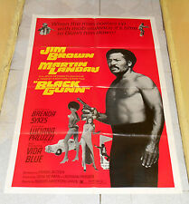 original BLACK GUNN one-sheet poster Jim Brown Martin Landau