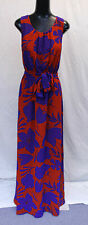 Long Tall Sally Women's Shadow Floral Woven Maxi Dress CK6 Red/Purple UK:12 US:8
