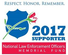 2017 National Law Enforcement Officers Memorial Fund Supporter Static Cling