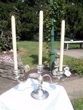 Westmorland Sterling Silver Candelabra Spring-load Candlesticks Weighted 926 gr