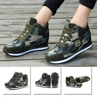 Shoes Workout Military Heel Lace Up Anti Slip Sneaker Fitness Women/'s Canvas