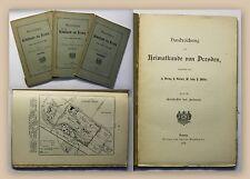 Döring Handreichung zur Heimatkunde von Dresden 1898 Heft 2-4 Geschichte xy