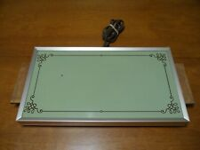 Vintage Cornwall Electric Warming Tray Hot Plate Avacado Green Model 1418 Works