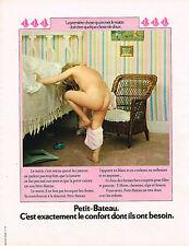 PUBLICITE ADVERTISING 035  1973  PETIT-BATEAU   sous vetements