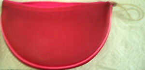 New Clinique Pink Wedge Empty Cosmetic Zippered Bag 7 1/2 x 3 x 5 inches