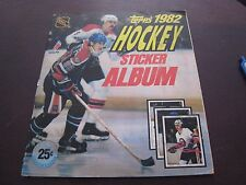 1982 TOPPS HOCKEY STICKER ALBUM