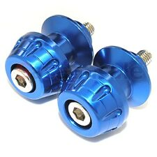 BLUE - YAMAHA 6mm Swingarm Stand Spools YZF R1 R6 R6S R 1 6 S - ROCKET
