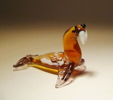 Blown Glass Art Figurine Animal Small Sea Walrus