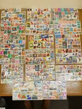 USED STAMP COLLECTION 100s STAMPS AUSTRALIA/NEW ZEALAND/EUROPE ETC See CLOSEUPS