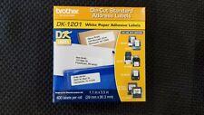 "Brother DK-1201 Die-Cut Standard Address Labels White 1.1 "" X 3.5 "" 400"