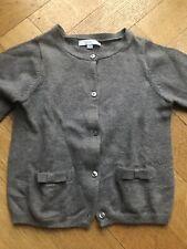 Jacadi Grey Cotton Girls Cardigan With bows Detail Size Age 2 - 3