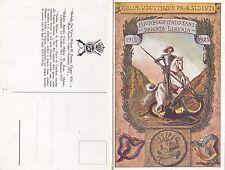 WWI - 157° REGGIMENTO FANTERIA - BRIGATA LIGURIA DIS. BORELLI- CARTOLINA DOPPIA