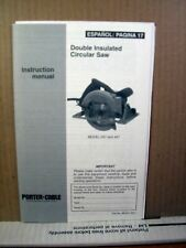 Instruction Manual Double Insulated Circular Saw Model 347 and 447 (English/Span