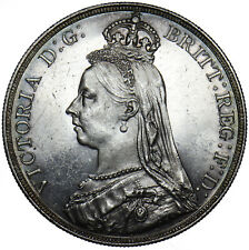 1889 CROWN - VICTORIA BRITISH SILVER COIN - SUPERB