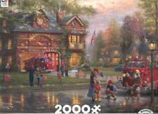 New ListingThomas Kinkade 2000Pc Ceaco Puzzle Hometown Firehouse Nib