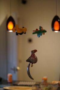 Wooden handmade bird mobile