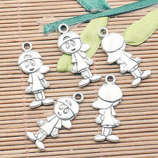 26pcs Tibetan Silver Color petit garçon Design Charms H2444