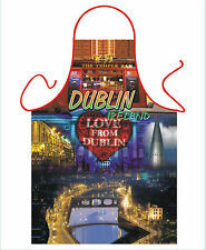 MEN'S,WOMEN'S NOVELTY APRON, ICONIC DUBLIN SCENES, GIFT FROM IRELAND