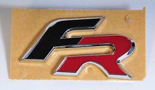 """Original SEAT """"FR"""" chrom/rot/schwarz Schriftzug Aufkleber Decal Emblem Logo"""