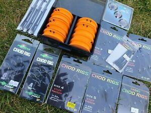 Korda Nash ESP Guru Massive Chod Floater & Zig Carp Fishing Job Lot Inc Box £65+