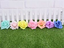 50pc Large Artificial Silk Flower Rose Heads Wedding Craft Home Floral Decor 9mm