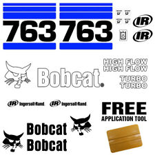 Bobcat 763 v2 Skid Steer Set Vinyl Decal Sticker bob cat MADE IN USA - 20 Pc Set