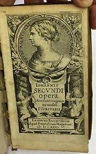 Iohannis Secundi opera accurato recognita ex museo P. Scriverii. 1631, VG Latin