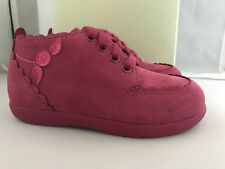 Stride Rite  Raspberry /Fuchsia Nubuck Walking Shoes Infants Size 7 Wide