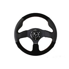 NRG Steering Wheel 320mm Race / Sport Black Leather & Suede Red Stitching