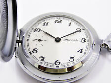 Molnia Made In USSR Mechanical Hunter Case In Near Mint Condition Pocket watch