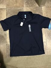 NWT PGA TOUR Offical Mens Apparel  Golf Polo With AIRFLUX Ventilation Navy Blue