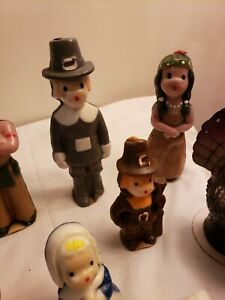 10 Vintage Gurley  CANDLES  Natives, & Thanksgiving