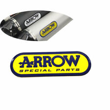 Yellow Motorcycle Exhaust Pipes Part Decal Arrow Aluminium Sticker 95mm