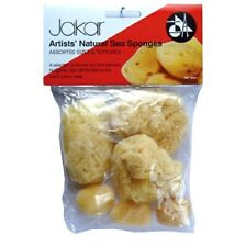 Jakar Set of 5 Assorted Size & Texture Coarse Natural Sponges Watercolour Paint