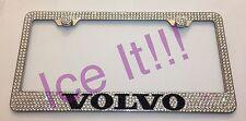 VOLVO Steel license plate frame W Swarovski Crystals