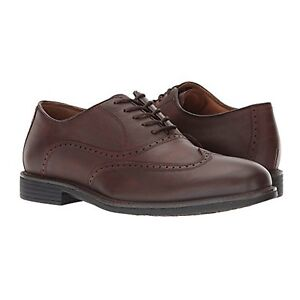 20-7053, Hollis Wingtip Dk Brown Nu buck, Johnston&Murphy Men's Dress-up Shoes