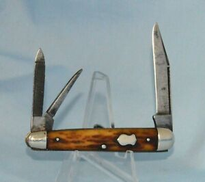 "VINTAGE REMINGTON BONE WHITTLER KNIFE R6723 1924-33 ""NO CASE /BOX"""