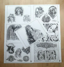 Lowrider Tattoo Flash, 7 Sheets, A3 Double sided, Jose Lopez , Tattoo Tony