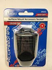 Heavy Duty Surface Mount Cig Accessory Aerpro APDCH2 Power Cig Socket 12/24Volt