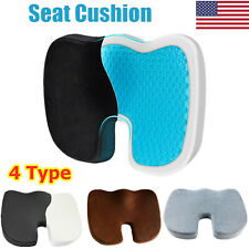Cooling Gel Seat Cushion Memory Foam Coccyx Car & Chair Pillow Orthopedic USA