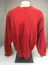 NWOT Tultex Maximum Sweats Blank Plain Solid Red crewneck sweatshirt 2XL USA