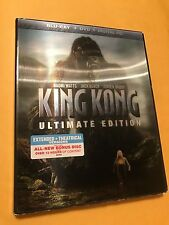 King Kong Ultimate Edition (Blu-Ray, DVD, Digital HD Combo Pack) *New, Free S&H*