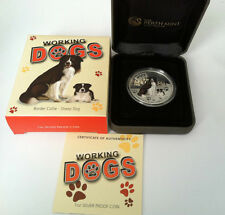 2011 $1 Working Dogs Border Collie Sheep Dog 1oz Silver Proof Coin No. 868