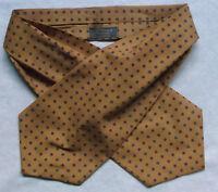 Cravat Tootal Vintage Mens 1970s 1980s MOD Retro DARK GOLD