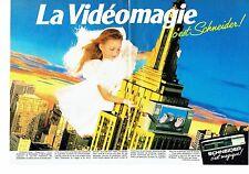 PUBLICITE ADVERTISING 0217  1985  Schneider (2p) téléviseur magnétoscope Lancey