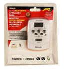 Woods 49377 Digital 2 Outlet Heavy Duty 7-Day Lamp/Appliance Timer photo