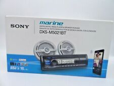 Universal Sony Marine AM/FM Digital Media Player & Speaker Package DXS-M5021BT