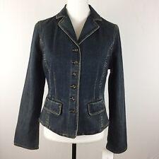 NEW Liz Claiborne Womens Blazer Jacket Pop Denim Sz SMALL MSRP $79