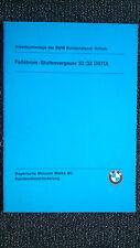 BMW 2002 e10: Fallstrom-niveaux carburateur 32/32 DIDTA-BMW Séminaire-Support 1974