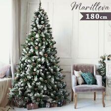 Albero Di Natale Innevato Harmony Marilleva 180cm 690 Rami Molto Folto con Pigne